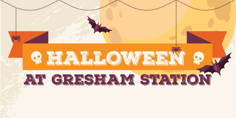 Halloween at Gresham Station banner graphic