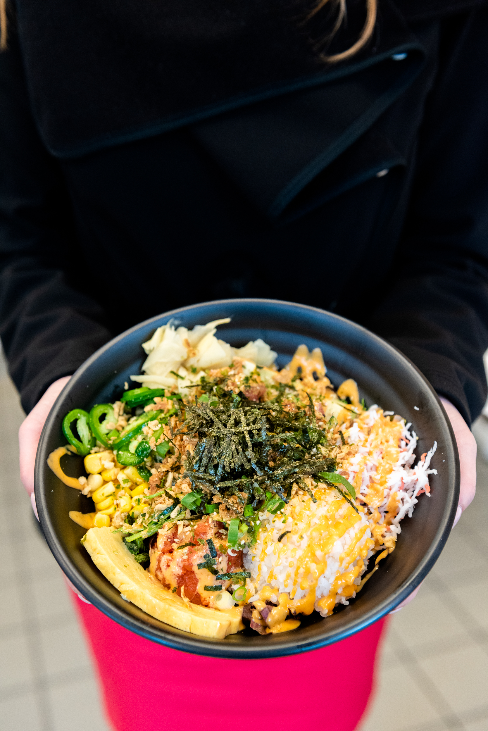 Custom poke bowl from Joy Poke bar