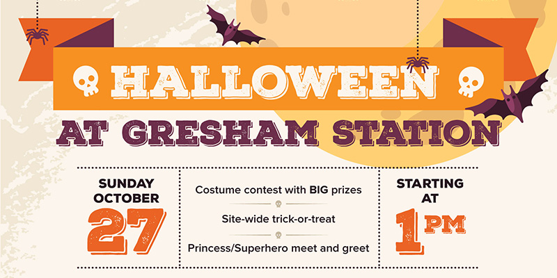 Gresham Station Halloween Event Banner 2019