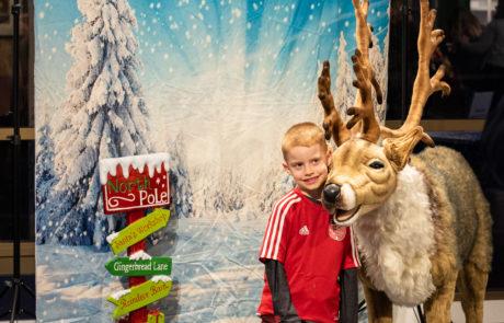 reindeer selfie station