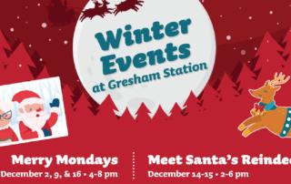 winter events post for gresham station 2019